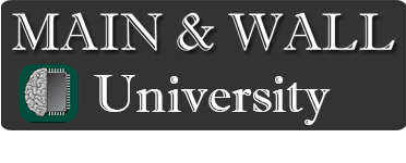 Main and Wall University Logo
